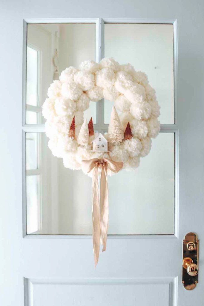 Winter Pom Pom Wreath