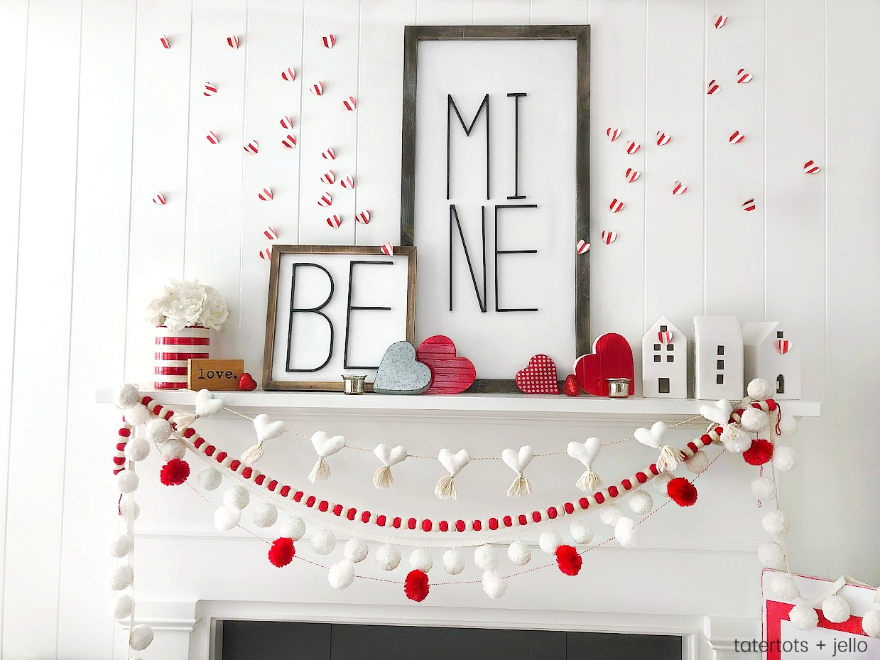 Be Mine Valentine's Day Mantel DIY Ideas!