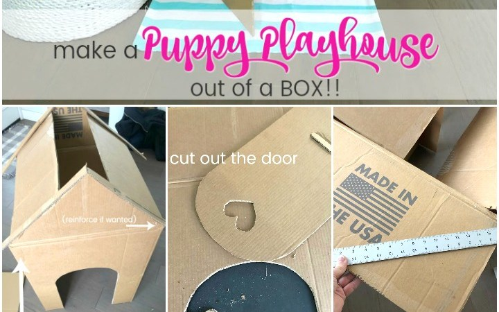 Make an Adorable DIY Dog Playhouse Out of a Box!