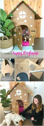 Make an Adorable DIY Dog Playhouse Out of a Box!