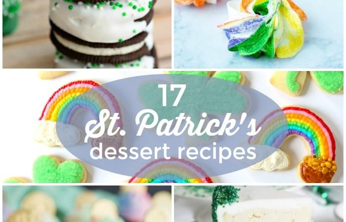 17 St. Patrick's Day Dessert Recipes!