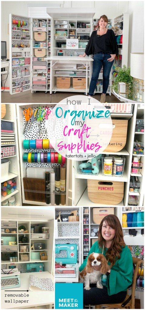 how i organize my craft supplies to use each day