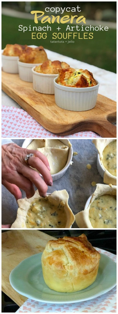 Copycat Panera Spinach and Artichoke Egg Soufflés - SO good!