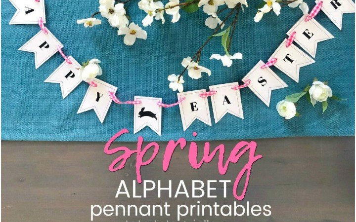 Bunny Alphabet Pennant Banner + 24 other free Spring Printables!