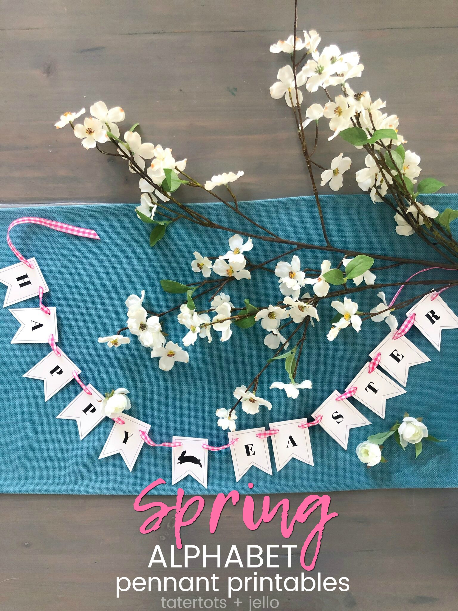 graphic about Printable Pennants identified as Spring Alphabet Pennant Banner Printables + 26 other absolutely free