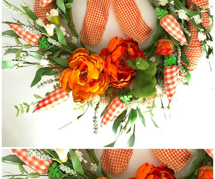 Layered Spring Plaid Wreath + 27 more DIY Spring Wreaths!