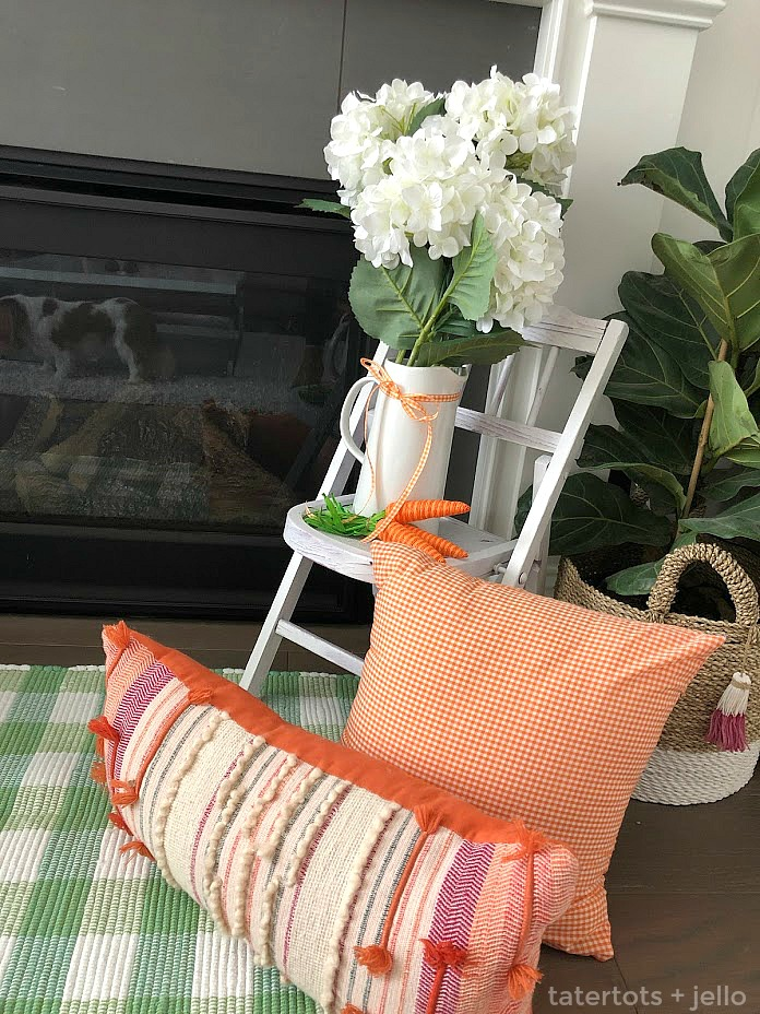 10-minute spring pillow covers