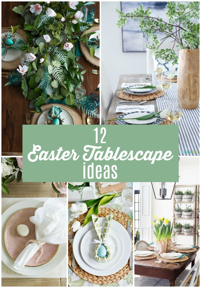One of my favorite things about Easter is setting a beautiful table! There are so many different colors and ways you can create a gorgeous Easter tablescape. And they aren't hard! Check out these 12 Beautiful Easter Tablescape Ideas!!