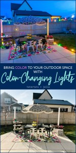 Add Color to Your Outdoor Space with Color-Changing Lights!