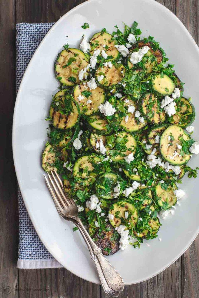 mediterranean grilled zucchini salad