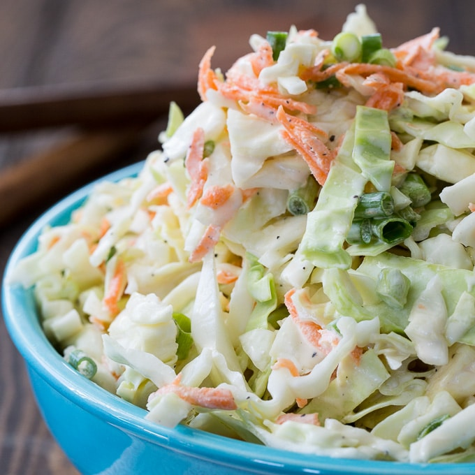 Buttermilk Coleslaw Recipe @ Spicy Southern Kitchen