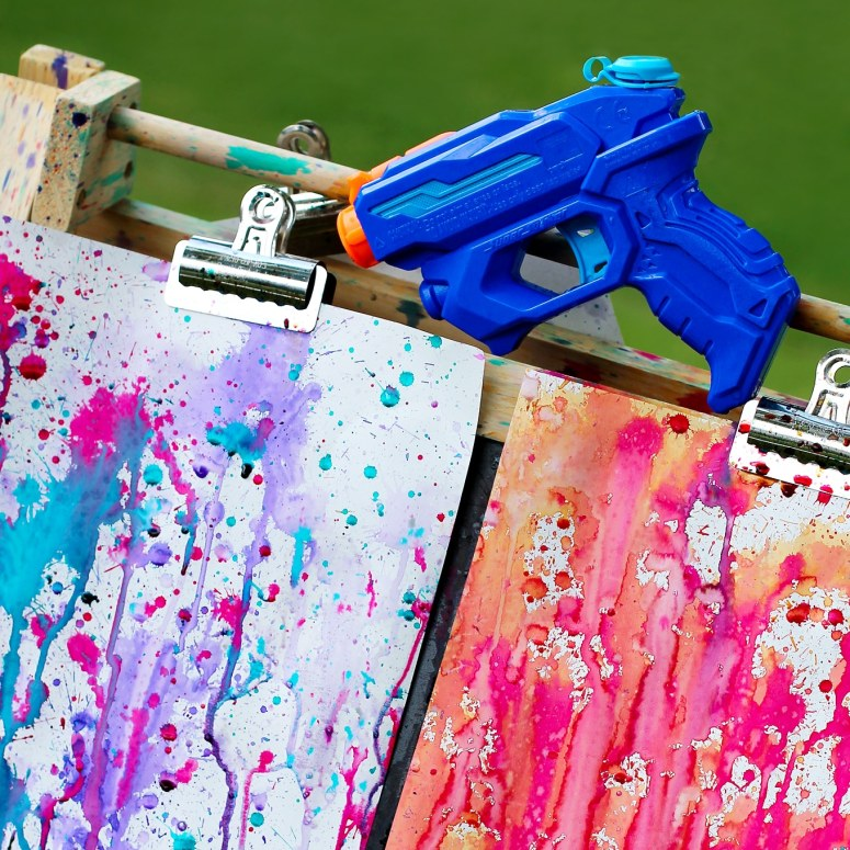 Colorful Squirt Gun Painting