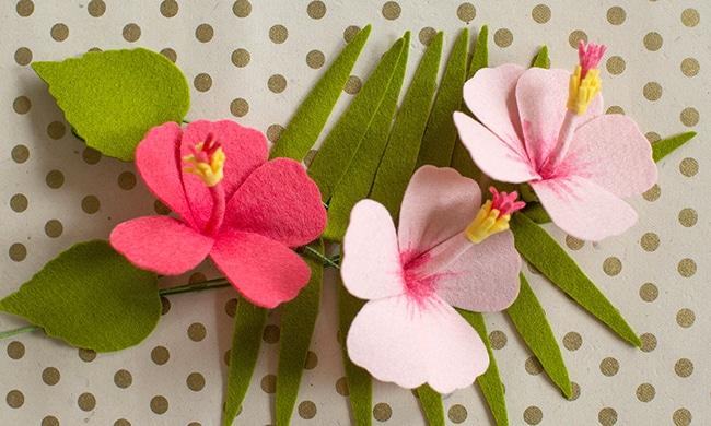 DIY Felt Hibiscus Flowers