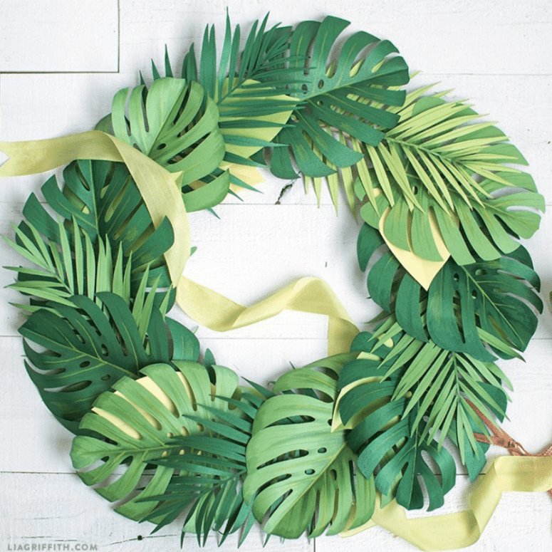 Monstera Leaf Wreath