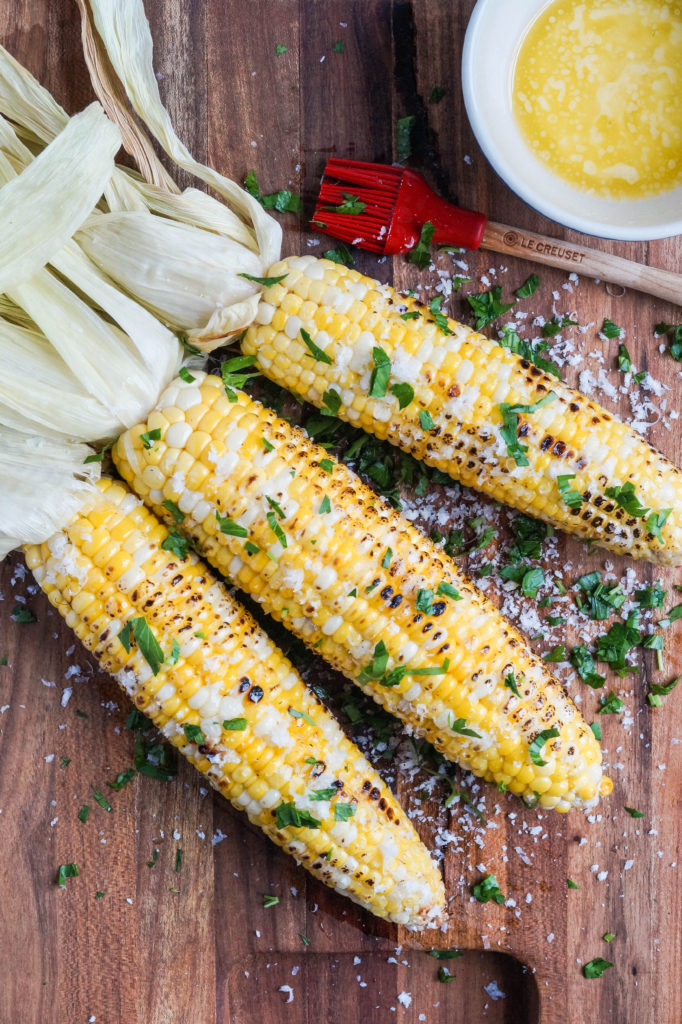 Parmesan Garlic Grilled Corn @ Tara's Multicultural Table