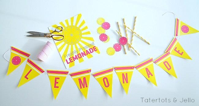 Summer Lemonade Stand Free Printables