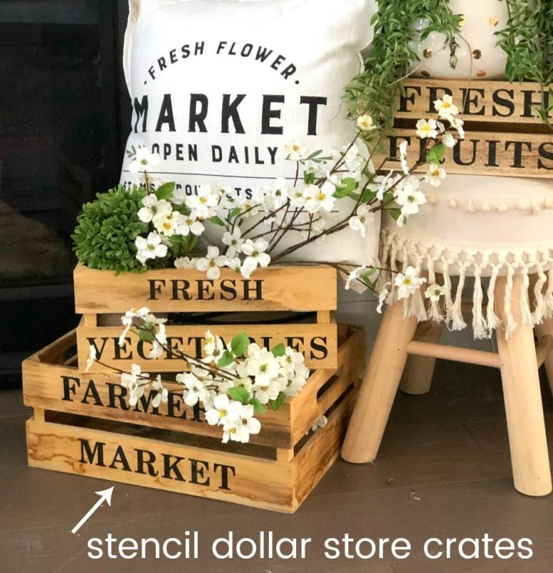 Flower Market Summer Mantel and Decorating Ideas! Bring the feeling of summer into your home with these FIVE easy decorating ideas!