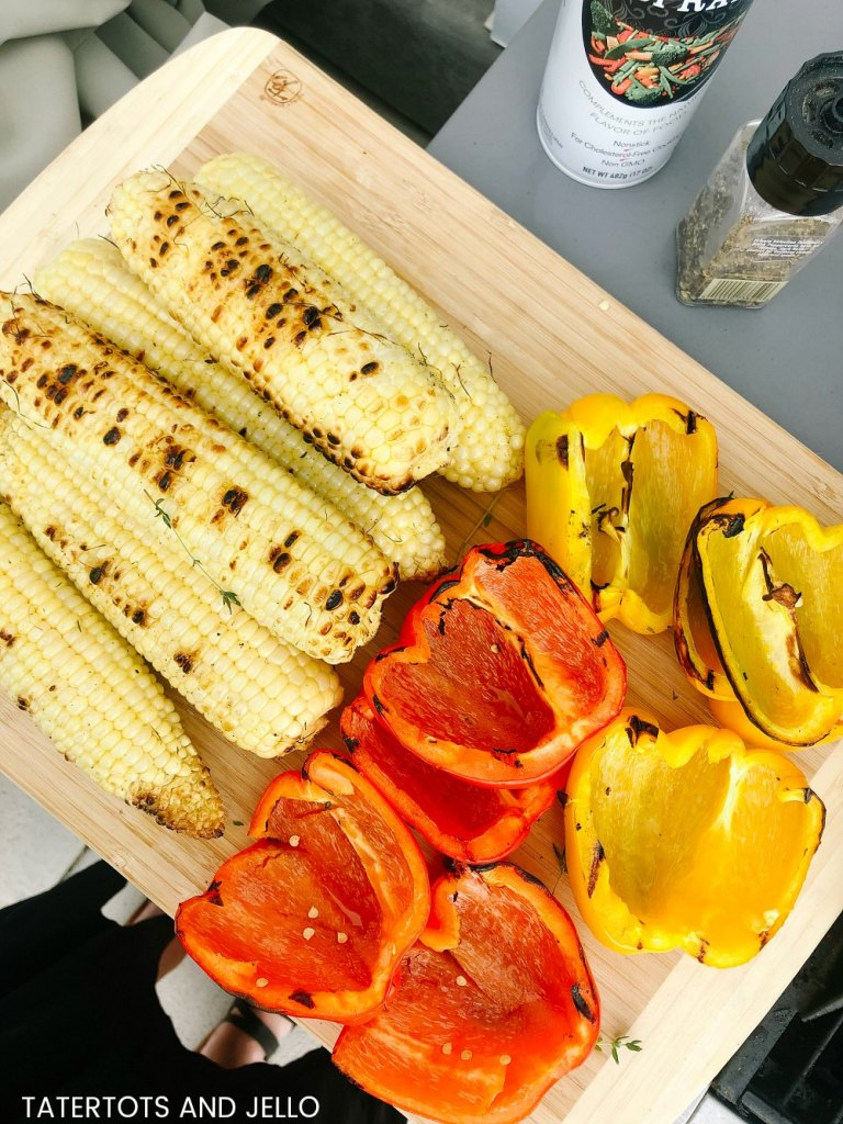 Grilled Corn Salad with Tangy Lime Vinaigrette. Looking for the perfect salad to make this summer? This one takes fresh corn and peppers and grills them to bring out the most flavor, mix more fresh veggies and top it with a refreshing citrus lime vinaigrette dressing.
