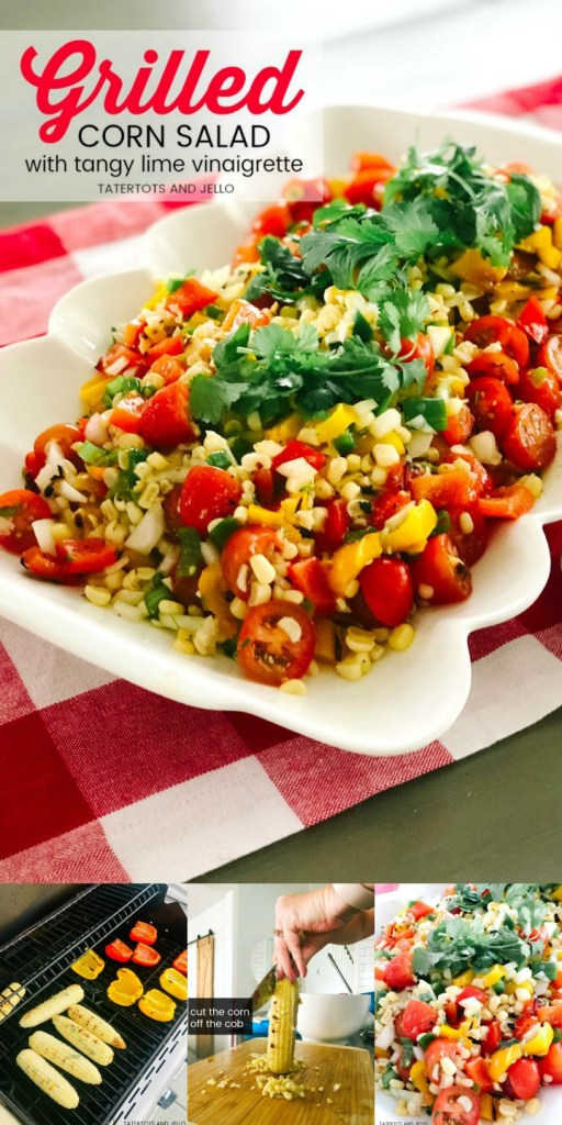 Grilled Corn Salad with Tangy Lime Vinaigrette Dressing