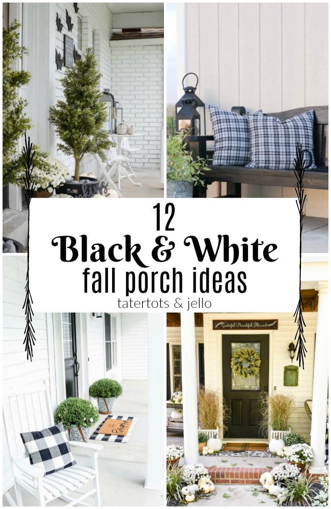 12 black and white fall porch ideas