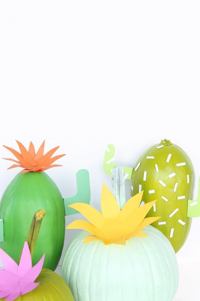 DIY Cactus Pumpkin @ Aww Sam