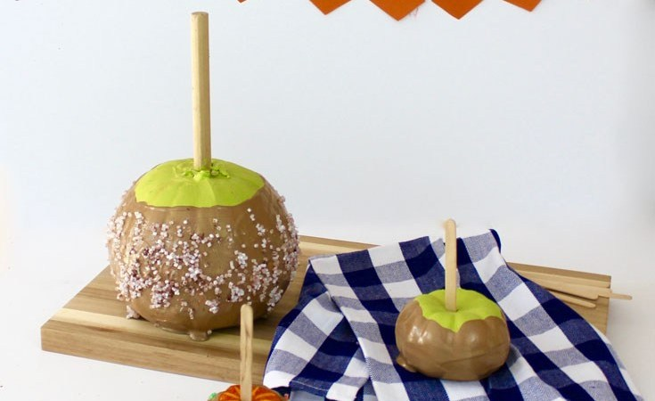 No Carve Caramel Apple Pumpkin @ Craft + Tell