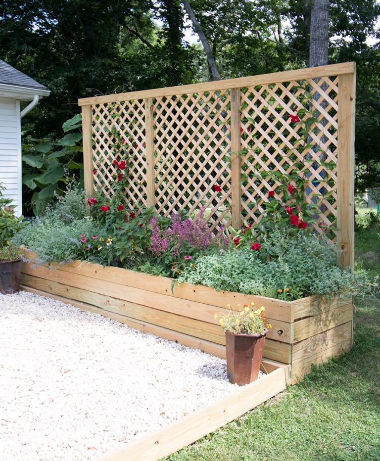 Privacy Screen Planter DIY @ Gina Michele