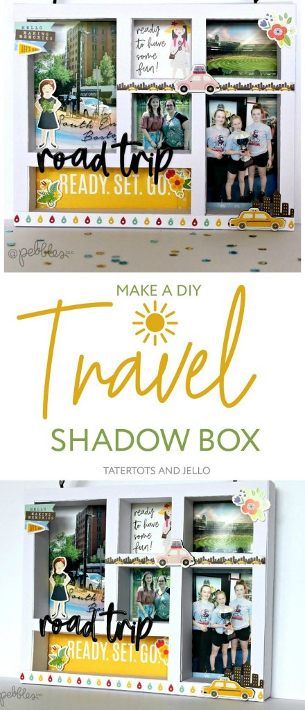 How to Make a Shadow Box Photo Travel Frame. Going on a big trip this summer? Display those special moments in your home by creating a ShadowBox Photo Travel Frame!