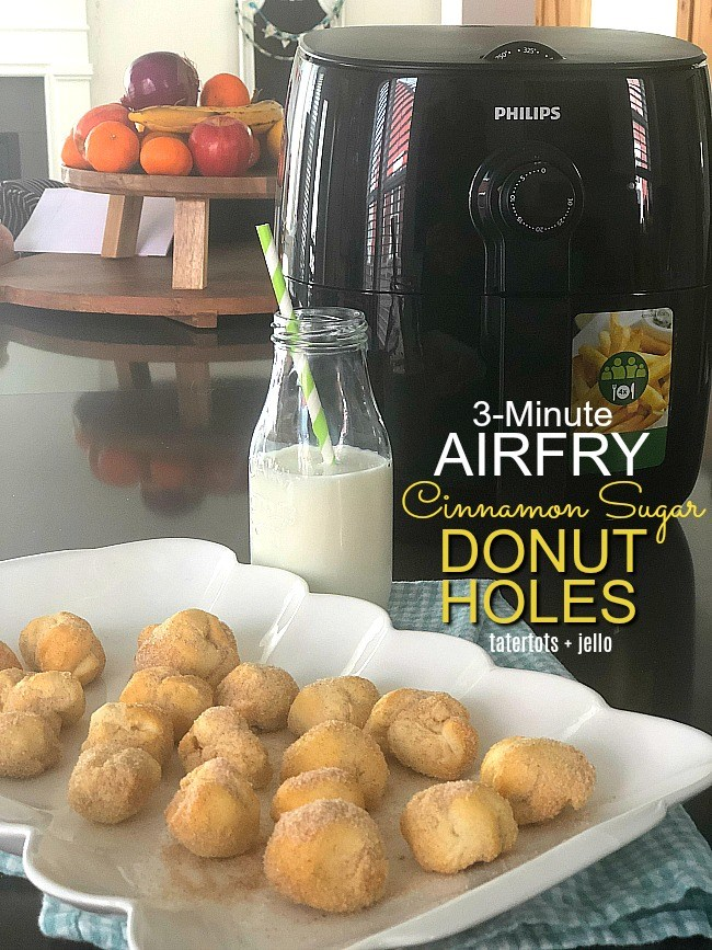 3 Minute Airfry Cinnamon Sugar Donut Holes