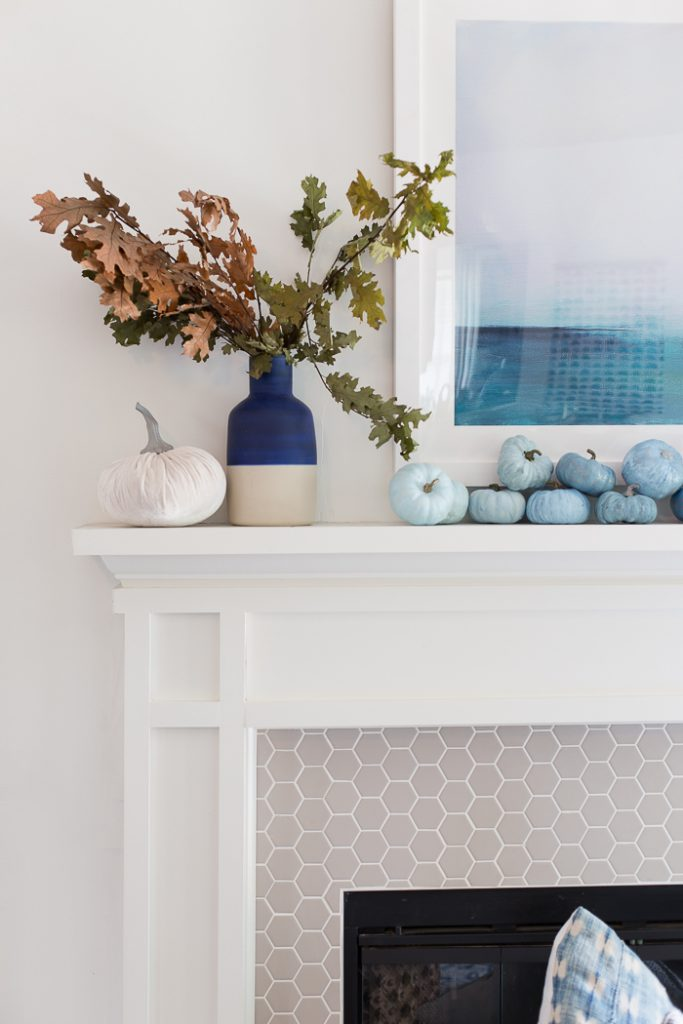 Coastal Fall Mantel Decor @ Making Home Base