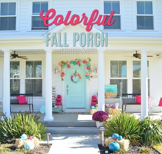 Colorful Fall + Halloween Porch Ideas