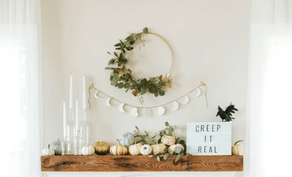 Modern Halloween Mantel @ Apartment Therapy