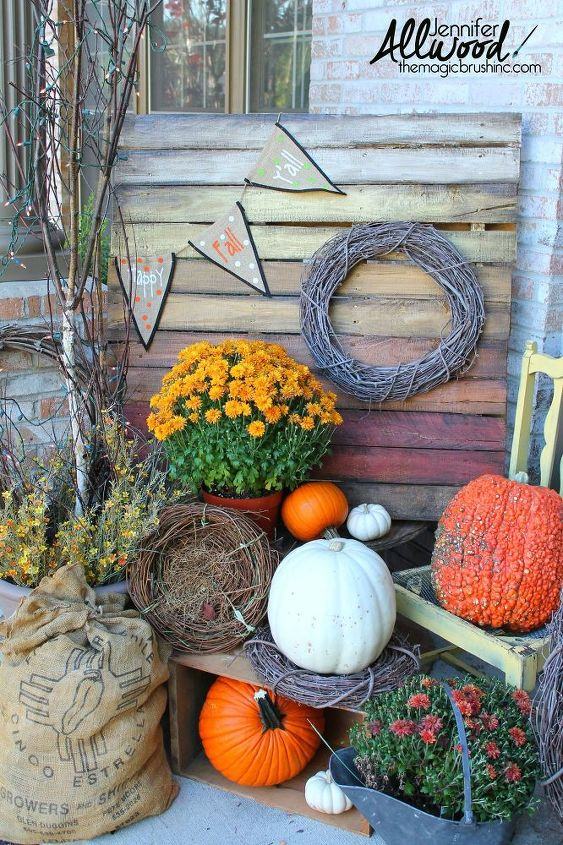 Ombre Pallet Project For Your Fall Porch @ Hometalk