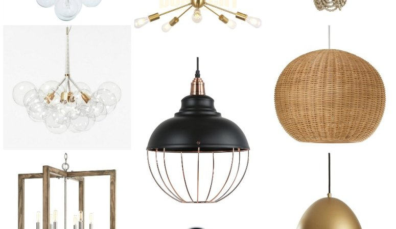 My Favorite Affordable Modern Farmhouse Lights