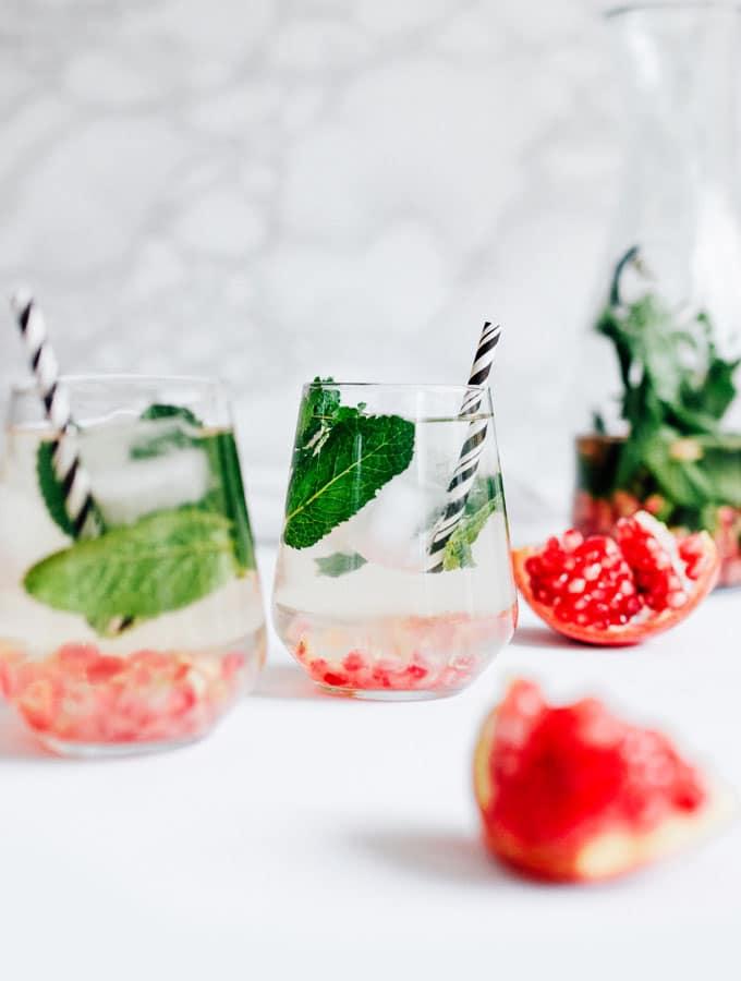 Pomegranate Mint Water Recipe