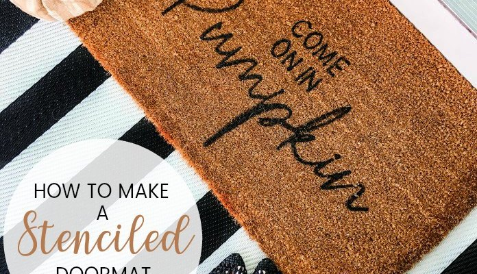 Make an Easy Fall Stenciled Doormat!