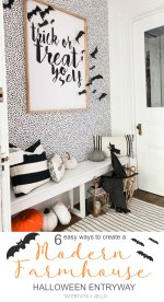 Modern Farmhouse Halloween Entryway