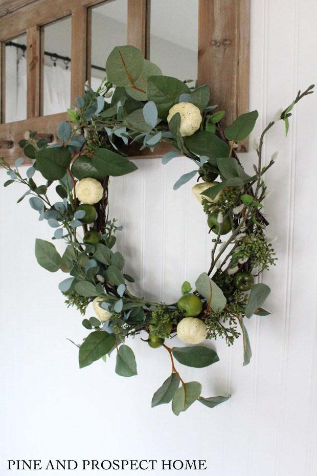 DIY Pumpkin Apple Wreath @ Pine and Prospect Home