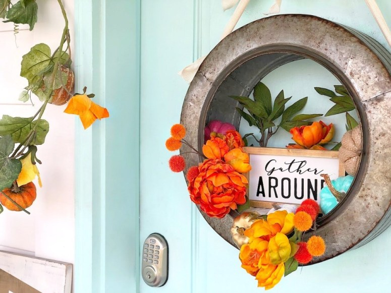 Farmhouse Gather Fall Wreath