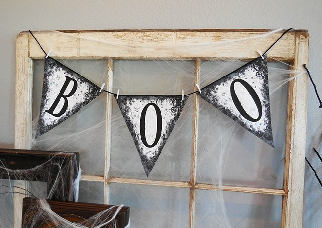 Halloween Boo Banner Free Printable @ The Painted Hinge