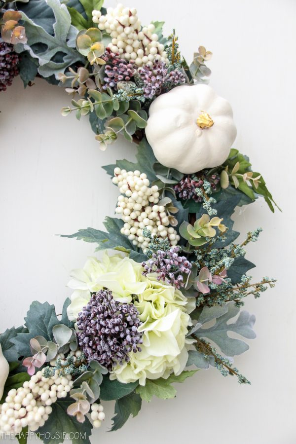 High End Style DIY Fall Wreath on a Budget @ The Happy Housie