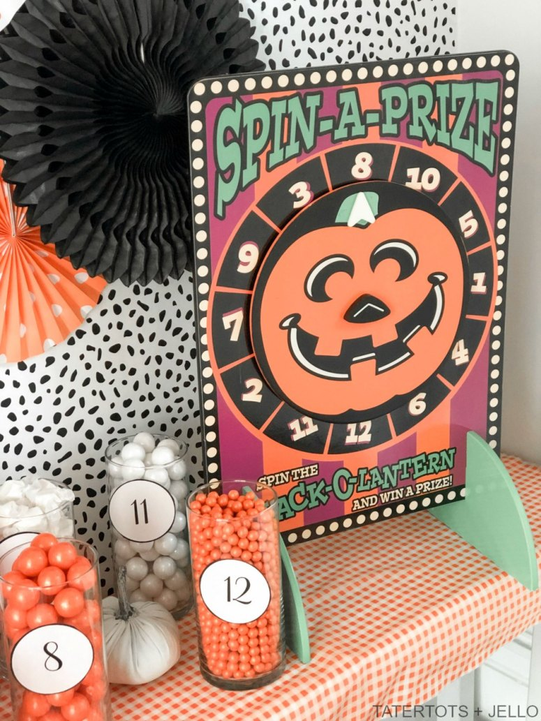 Halloween Trick-or-Treat Candy Station Game with Free Printables. Create a colorful candy station with a game and free printables. perfect for trick-or-treaters or to play at a Halloween party!