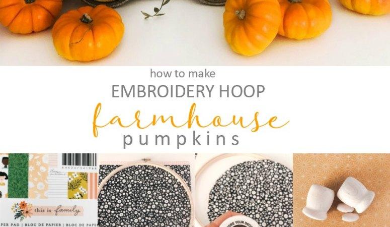Embroidery Hoop Farmhouse Pumpkins