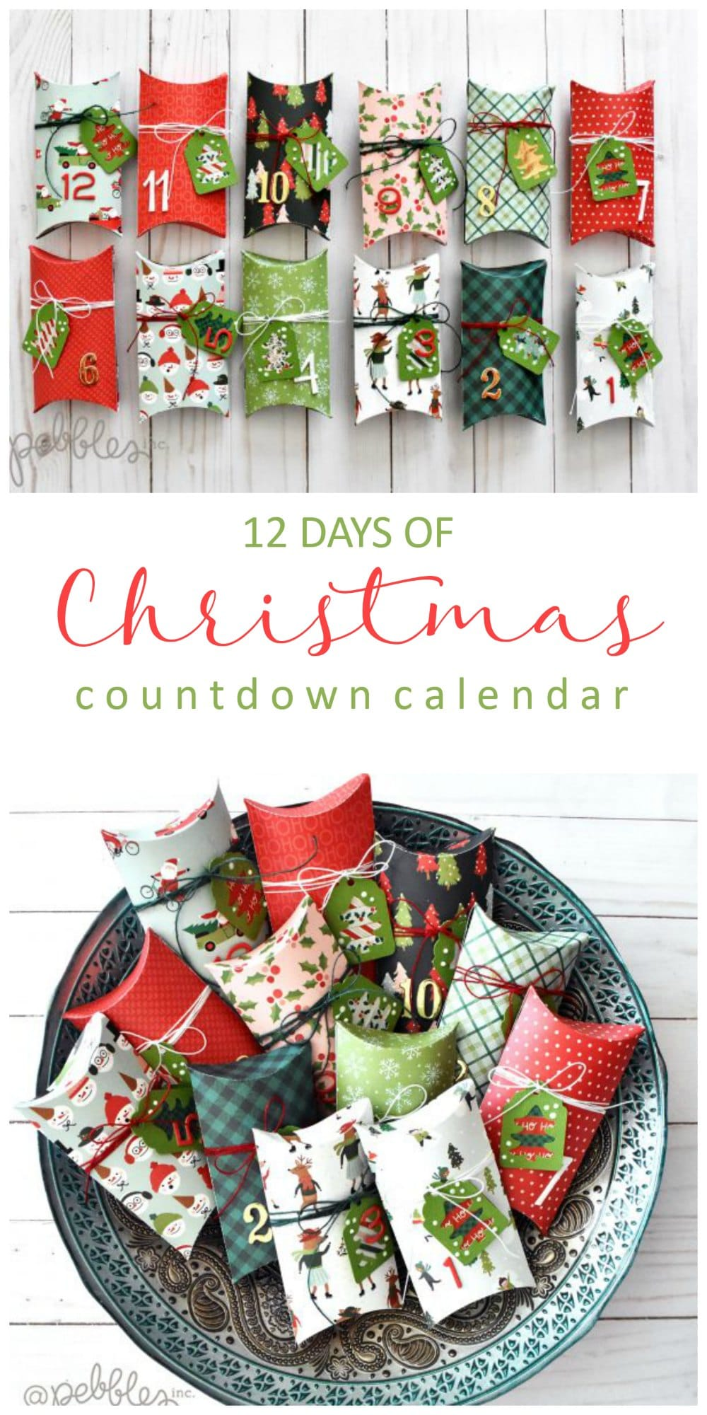 12 Days Of Christmas Paper Countdown Calendar Diy