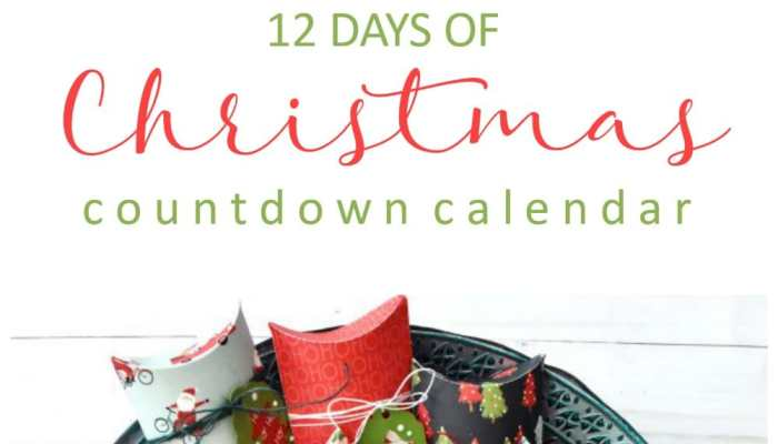 12 Days of Christmas Paper Countdown Calendar