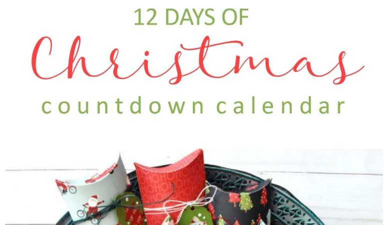 12 Days of Christmas Paper Countdown Calendar