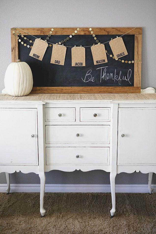 DIY Be Thankful Board