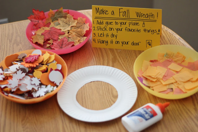 Fall Wreath Making Station for Toddlers @ Toddler Approved