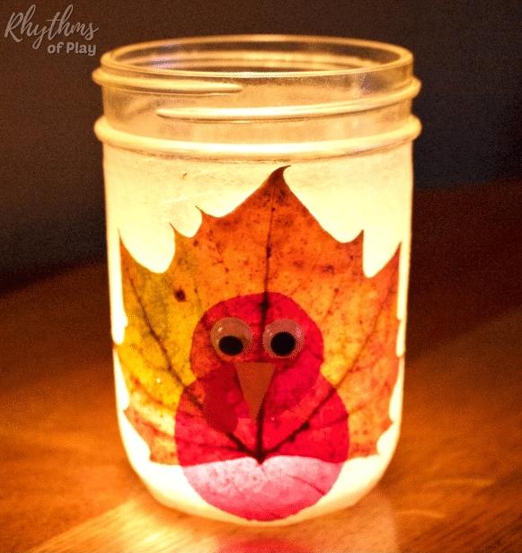Thanksgiving Turkey Leaf Lanterns @ Rhythms Of Play