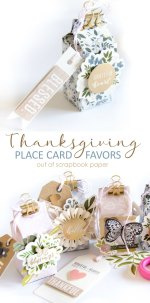 DIY Thanksgiving Place Card Favors Out of Scrapbook Paper